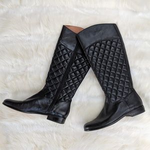 Corso Como tall black quilted boots, riding boots